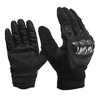 Кожа Полный палец Перчатки Для тактического На открытом воздухе Спорт мотоцикл Велоспорт Черный