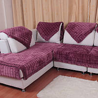 Honana SC-587 Европейский фланель Простой зимний плюшевый прокладочный чехол Современный диван-обложка Полотенце