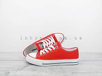 Женские и подростковые кеды Converse all star chuck taylor конверс ол стар красные