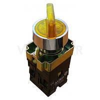 XB2-BK2565 Кнопка желтая поворотная 2-х поз. с подсветкой