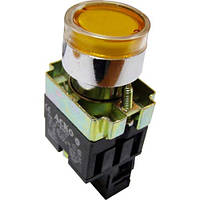 XB2-BW3571 Кнопка с подсветкой желтая