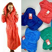 Длинный махровый халат, размер 42-44, 44-46, 46-48, 48-50, 52-54