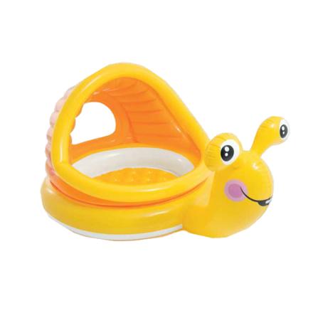 🔥✅ Детский надувной бассейн Ленивая улитка с навесом Intex 57124 145x102x74 см