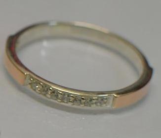Серебряное кольцо с накладками из золота (126к)