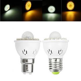 E27 B22 3W PIR Инфракрасный Датчик Контроль освещения Светодиодный Лампа для коридора AC220V 1TopShop