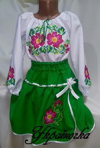 3d476fe7a994ac Стильна Костюм вишитий для дівчинки в українському народному стилі