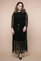 Нарядное женское длинное платье батал 56, 58, 60 размер. Платье большых размеров