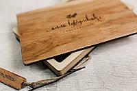Деревянный футляр для свадебных фотографий с флешкой на магнитах 220*170*18, фото 1