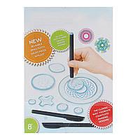 Спирограф Дизайн Set Tin Draw Drawing Art Craft Создать образование Инструмент