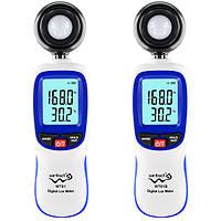 WT81 WT81B Bluetooth Цифровой люксовый люминесцентный светильник Mini Light Meter 0-200000 Lux Тестер температуры Испытательное оборудование для