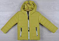 """Куртка детская демисезонная """"Moncler Tayes"""". 92-116 см (2-6 лет). Оливковая. Оптом., фото 1"""