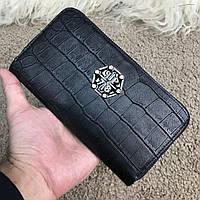 Оригинальный мужской бумажник, портмоне, кошелек, клатч на молнии Manama, черный цвет