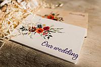 Деревянный футляр с цветным принтом свадебных фотографий с флешкой на магнитах  220*170*18, фото 1