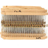6000 штук 100 Значение 1/4W Углеродный пленочный резистор KIT0155 Ассортимент Коробка Набор 60 шт.