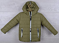 """Куртка детская демисезонная """"Moncler Tayes"""". 92-116 см (2-6 лет). Темно-оливковая. Оптом., фото 1"""