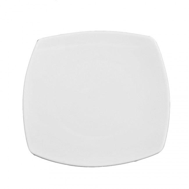 Тарелка фарфоровая квадратная мелкая 260*260 мм.