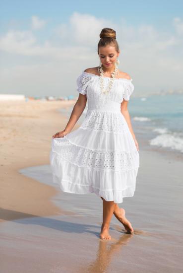 Новинка 2018 Сарафан платье из хлопка кружевом Индиано, фреш коттон