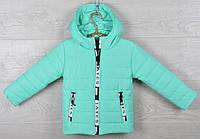 """Куртка детская демисезонная """"Moncler Tayes"""". 92-116 см (2-6 лет). Мята. Оптом., фото 1"""