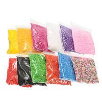 12 Pack пенополистирола пенопласт для слитков мини-бусины DIY Craft Kids Toy 12 цветов
