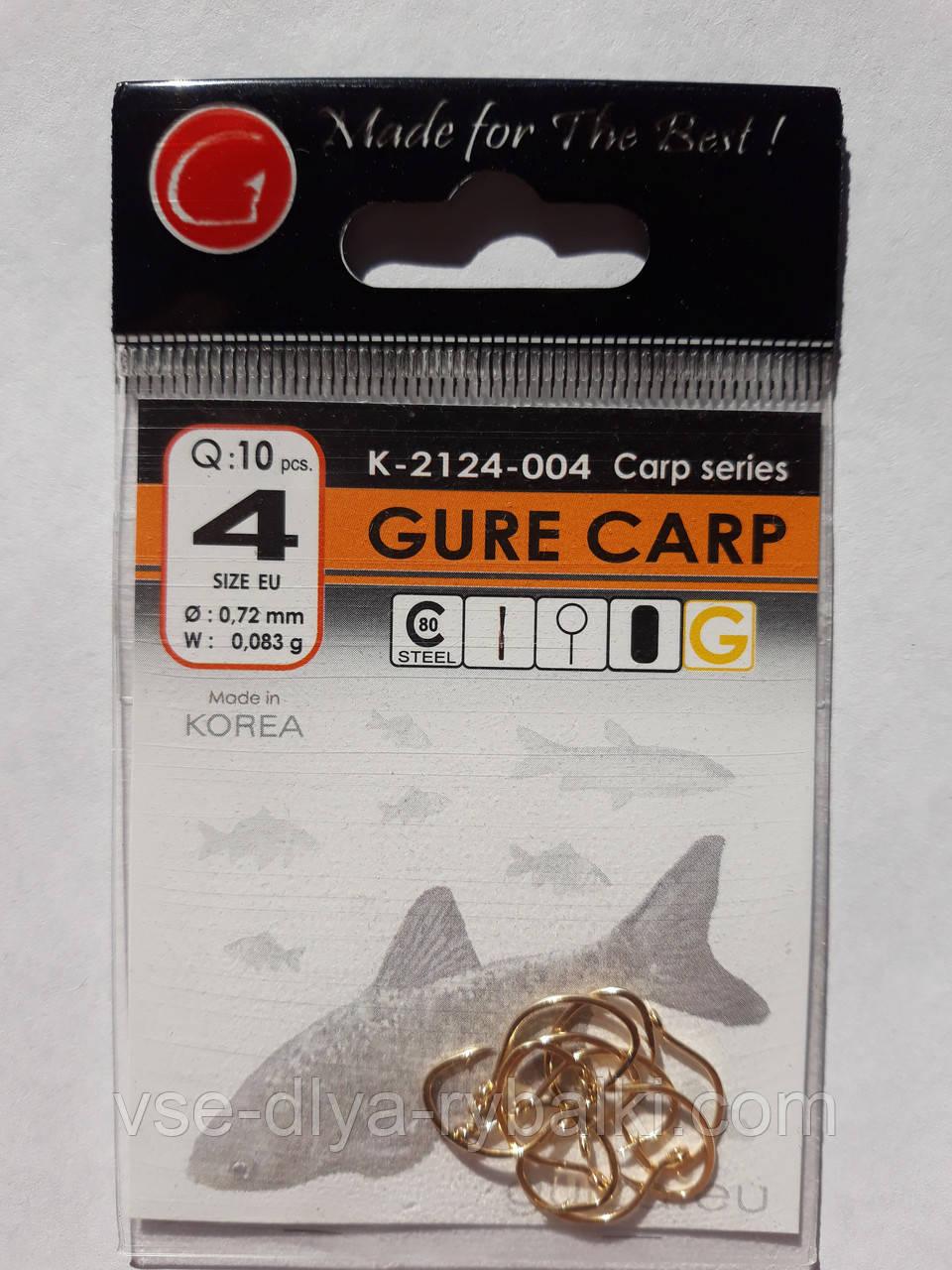 Крючки Gurza gure carp gold № 4