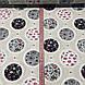 Хлопковая ткань польская кружева, овалы с рисунками на бежевом №74, фото 3