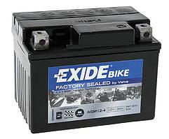 Аккумулятор гелевый мото 3Ah 50A EXIDE SLA12-4 = AGM12-4 для Honda Dio , Yamaha Jog , Yamaha Axxis