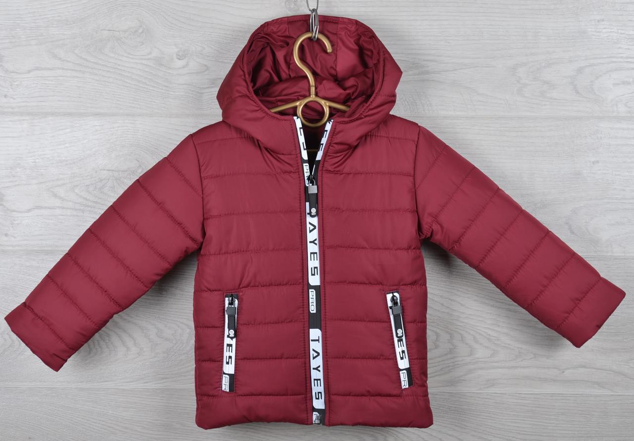 """Копия Куртка детская демисезонная """"Moncler Tayes"""". 92-116 см (2-6 лет). Вишневая. Оптом."""