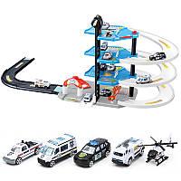 DIYТрекАвтоRacingOrbit3D-модель Сборка Firetruck Полицейский Паркинг Здание Блоки Игрушки Подарок