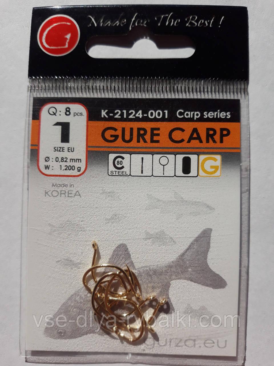 Крючки Gurza gure carp gold № 1