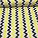 Хлопковая ткань польская зигзаг желто-черный №72, фото 2