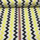 Хлопковая ткань польская зигзаг желто-черный №72, фото 3