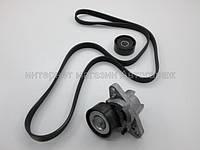Комплект генератора +AC (ремень+натяжитель) на Рено Логан 1.4i+1.6i 04-21.09.09 Renault (оригинал) 7701477517