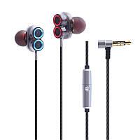 [Двойнойдинамическийдрайвер]CaldecottKDK-503Потолочный шумоподавляющий провод Наушник с микрофоном
