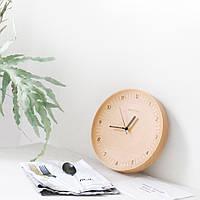 Original Xiaomi Mute Logs Деревянная простая деревянная металлическая указательная стенка Часы Домашнее украшение