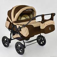 Детская коляска для двойнят Viki Victoria Gold лен