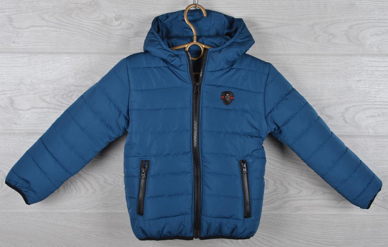 """Куртка детская демисезонная """"Moncler Cool"""". 92-116 см (2-6 лет). Синяя. Оптом."""