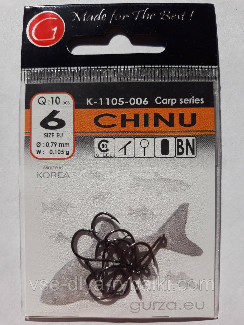 Крючки Gurza chinu № 6