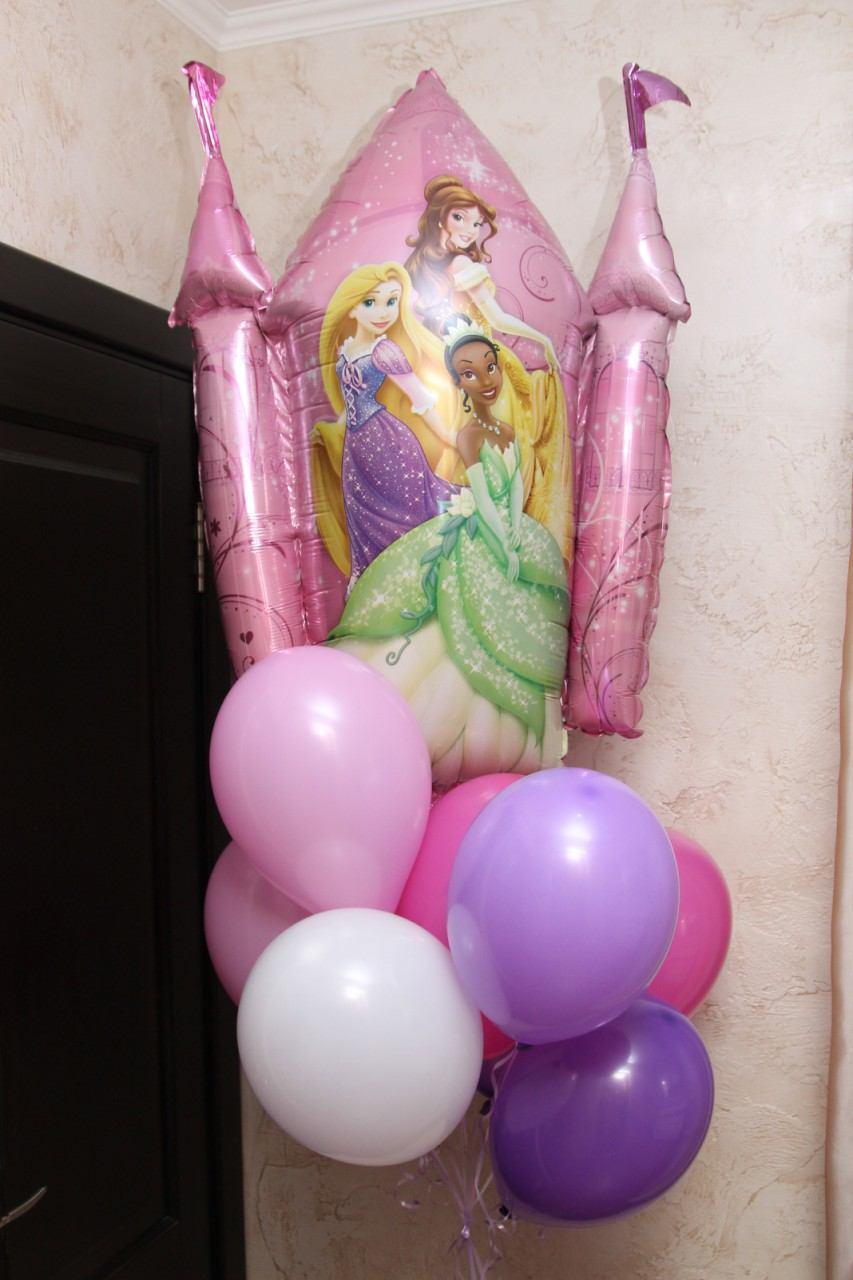 Букет шаров с Замком принцесс