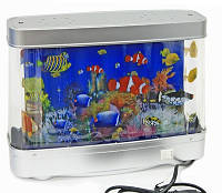 Светильник аквариум 22х30, светодиодный, подсветка, ночник, с рыбками
