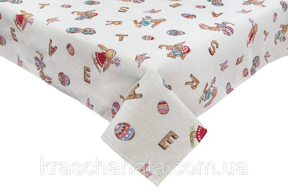 Скатертьпасхальная гобеленовая, 97х100 см, Эксклюзивные подарки, Столовый текстиль
