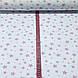 Хлопковая ткань польская звезды розовые большие и маленькие на белом №67, фото 3