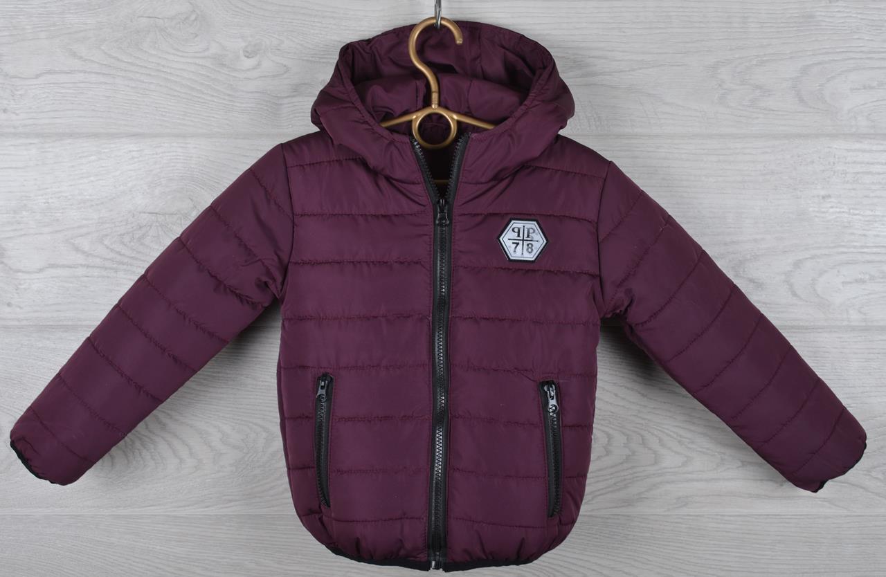 """Куртка детская демисезонная """"Moncler Cool"""". 92-116 см (2-6 лет). Бордо. Оптом."""