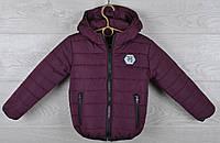 """Куртка детская демисезонная """"Moncler Cool"""". 92-116 см (2-6 лет). Бордо. Оптом., фото 1"""