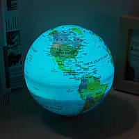 15 см Электрический LED Самовращающийся мир Земной шар Карта Земли Цвет Свет География Образование Декор
