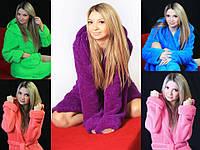 Женский махровый халат для дома, фото 1
