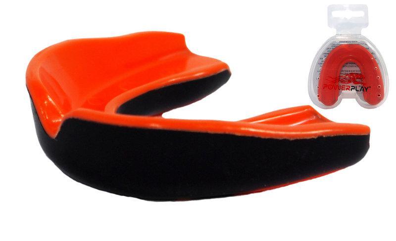 Капа боксерська PowerPlay 3315 SR Оранжево-Чорна