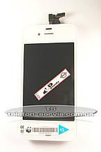 Дисплей з тачскріном для Apple iPhone 4S, білий