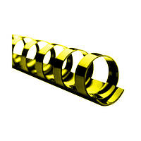 Пружина пластиковая 16мм желт