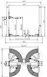 Подъемник двухстоечный электрогидравлический PL-4.0-2B, фото 2