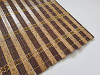 Бамбук на стол с золотой нитью.размер 60×90 (коричневое дерево)